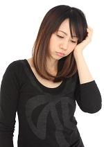 ストレスが肌に表れる30代女性